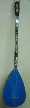 Blue acoustic baglama with piezo