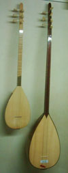 Juniper cura with mulberry hand carved saz